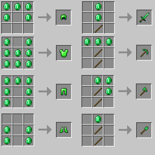 Minecraft EmeraldExtended Forge and Fabric (Emerald Mod) 1.17.1/1.16.5